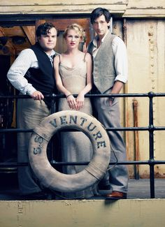 hollywoodlady:  Jack Black    Naomi Watts and Adrien Brody for King Kong, 2005