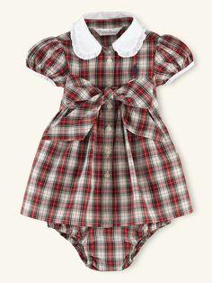 Plaid Belted Shirtdress - Dresses & Rompers  Layette Girl (Newborn-9M) - RalphLauren.com