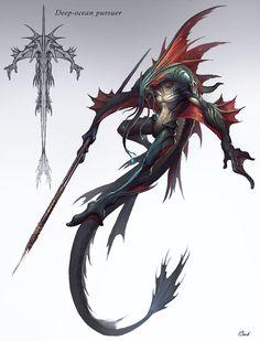 ArtStation – Ocean creature concept (海洋 怪兽), P. Monster Art, Monster Concept Art, Alien Concept Art, Creature Concept Art, Fantasy Monster, Monster Design, Creature Design, Ocean Monsters, Cool Monsters