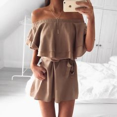 45 Ultimate Trending Summer Outfits Perfect For Vacation Mushroom Frill Dress Style Outfits, Casual Outfits, Cute Outfits, 90s Fashion, Fashion Outfits, Womens Fashion, Style Fashion, Fashion Beauty, Fashion Trends