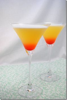 The other night, I was drinking these with my husband and talking to my dad on the phone and he asked why they are called a Bikini Martini. I said it was the tropical flavors – coconut rum, pineapp...