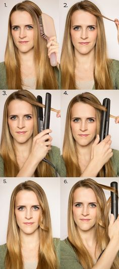 Createing soft curls with your straight iron | hairstyles tutorial