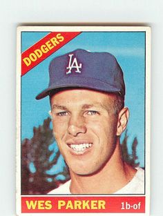 Wes Parker was part of the Dodgers all switch hitting infield along with Jim Lefebvre, Maury Wills and Jim Gilliam in 1965 and 1966.  In 1970 he drove in 111 runs with only 10 homeruns.  He retired when he was  33.  He was in an episode of The Brady Bunch but I never saw it because we had only two TV stations and one showed both ABC and CBS shows and we didn't get that show...in reruns I never liked it anyway. Maury Wills, The Brady Bunch, Tv Station, Los Angeles Dodgers, Trading Cards, Mlb, Baseball Cards, Sports, Sport