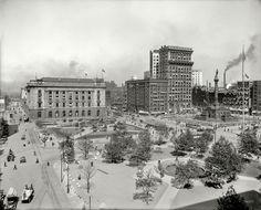 "Cleveland, Ohio, circa 1911. ""The Public Square -- Soldiers' and Sailors' Monument."""
