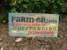 Farmer Definition Sign~6″x11″