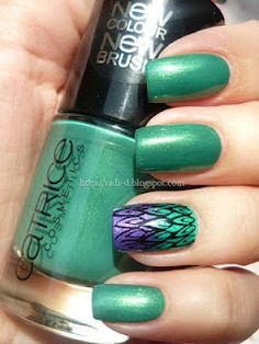 It`s all about nails: Peacock feathers