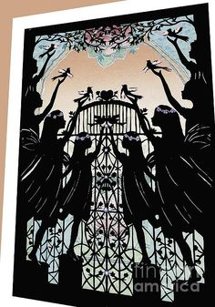 From an original paper cut by Nancy Michalak Angels at the Gate....<3