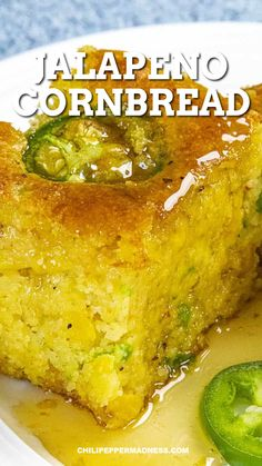 Super Easy Jalapeno Cornbread Make this cheesy spicy cornbread recipe in the oven in a jiffy. It's super moist from the creamed corn mixed in. Homemade is always the best and it's ready in 30 minutes. Creamed Corn Cornbread, Jiffy Cornbread Recipes, Easy Cornbread Recipe With Corn, Easy Mexican Cornbread, Jiffy Recipes, Cheesy Cornbread, Mexican Sweet Breads, La Trattoria, Bon Appetit