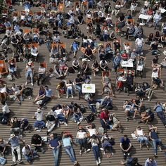 Visitors on deck chairs watch tennis matches on giant screens during the French Open tennis tournament at the Roland Garros stadium in Paris. #APPhoto by Michel Euler  #crowd #chair #tennis #FrenchOpen #RolandGarros #stadium #spectators #Paris #MichelEuler #sports #AP #AssociatedPress #APImages #photojournalism #photography #news