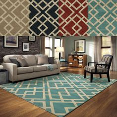 Geometric Diamond Motif Rug (6'7 x 9'6) - Overstock™ Shopping - Great Deals on Style Haven 5x8 - 6x9 Rugs
