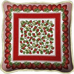 Strawberry Festival Strawberries Art Tapestry Pillow Jacquard Woven Cotton