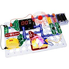 Snap Circuits Arcade:  30 Snap Modules included to complete more than 200 projects. Enjoy completing projects using a programmable Word Fan, Dual LED Display and a pre-programmed Micro-Controller. Clear and concise Illustrated Manual includes explanations for different Snap Modules and concepts needed to build Arcade projects. Suitable for ages 8 years and up.