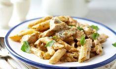 Πένες με κοτόπουλο ΚΟΤΟΠΟΥΛΟ ΜΕ ΠΕΝΕΣ και σάλτσα μουστάρδας