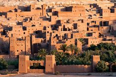 The fortified city of Ait Benhaddou, a ksar between Marrakech and the Sahara desert in Morocco.