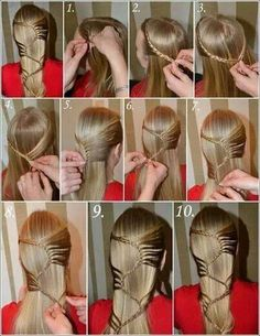 Step-by-step fancy ladder braid