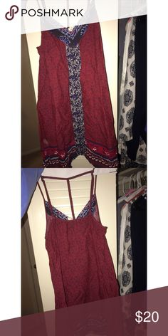 maroon sundress super cute PacSun Dresses