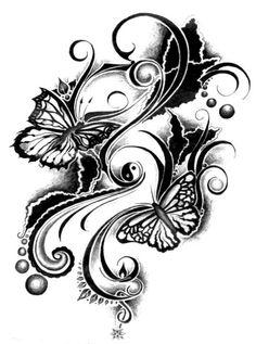 Butterfly Tribal Tattoo  http://fashx.com/tattoos/tribal-tattoos-women-2013/