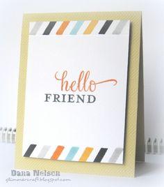 Hello Friend Card by glimmercraft