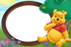pooh-frame20.gif (2274×1526) Winnie The Pooh Themes, Cute Winnie The Pooh, Winne The Pooh, Winnie The Pooh Birthday, Disney Scrapbook, Scrapbooking, Pooh Baby, Mug Template, Page Borders Design
