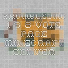 KrumbledMC 1.8.8 Vote Page - Minecraft Server