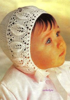 FREE Vintage knitting pattern pdf bonnets and by EstherKateVintage