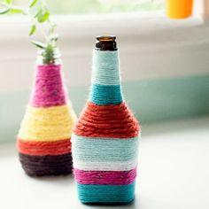 Créer un vase coloré avec de la ficelle