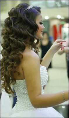 Big hair for quinceanera!