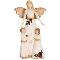 Pavilion Gift Company Simple Spirits Guardian Angel With Boy & Girl... ($25) ❤ liked on Polyvore featuring home, home decor and holiday decorations
