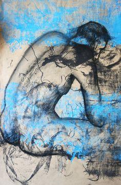 """Saatchi Online Artist: Dora Bratelj; Paper, 2007, Mixed Media """"Nude3"""""""
