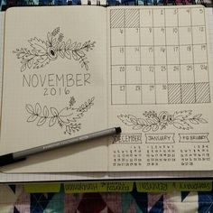 Newest obsession . . . . . #bulletjournal #bulletjournaljunkies #november #planner #doodle #staedtler #month