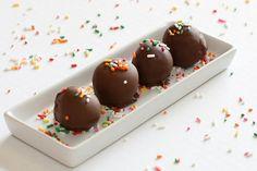 e-levated:  Chocolate Covered Banana Cake Balls