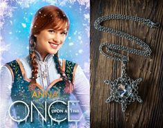 FROZEN pendant // snowflake // Once upon a time // for OUAT fans // Winter pendant // Anna and Elsa //