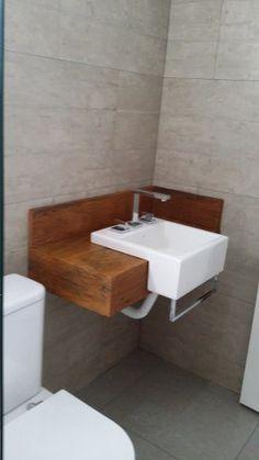 bancadas em madeira de demolição banheiro lavabo peroba rosa