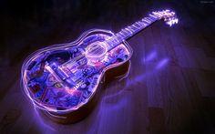 3D Neon Guitar