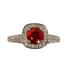 Genuine Ruby and Diamond Ring  Zabler Design Jewelers  Reference Number: R7283