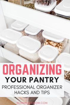 Organizing your pantry doesn't need to be a difficult process. What I learned working with a professional organizer to make my pantry more efficient. Easy hacks and tips for organizing your pantry or storage area directly from a professional organizer Home Organisation, Pantry Organization, Household Organization, Organizing Life, Pantry Ideas, Organizing Ideas, No Pantry Solutions, Kitchen Tiles Design, Tile Design