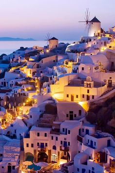 Evening at Oia, Santorini, Greece
