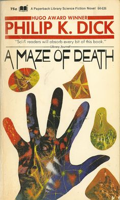 A Maze of Death, art by Richard M. Powers, book cover
