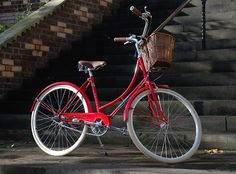 Oh something else to add to my red collection, now to learn to ride!!  Vintage Bikes by Papillionaire   Our Bikes