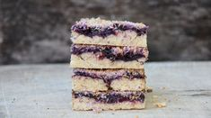 A delicious vegan slice using fresh berries and coconut as the main flavours. Make your own blueberry or strawberry jam in this simple vegan recipe.