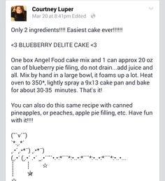 Blueberry Delite Cake
