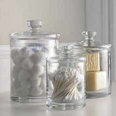 bathroom storage jar ideas - Google Search