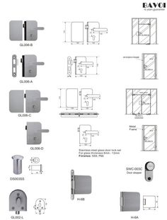 Fort-Stainless steel glass door lock manufacturer[GL006A,B,C,D,H-6A,B] Glass Door Lock, Lock Set, Door Hinges, Door Locks, Shower Doors, Floor Plans, Stainless Steel, Gate Locks, Locks