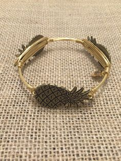 Bourbon and Boweties Gold Pineapple Standard Wrist $32 and FREE SHIPPING! www.twocumberland.com