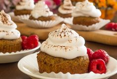 Dessert  Recipe: Ginger Spice Cupcakes with Whipped Cream Frosting