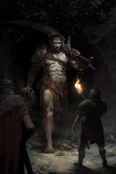 fantasy_dark — st-just: Goliath by Max Kostin Dark Fantasy Art, Fantasy Artwork, Fantasy Concept Art, Fantasy Kunst, High Fantasy, Fantasy Rpg, Fantasy Character Design, Medieval Fantasy, Fantasy World