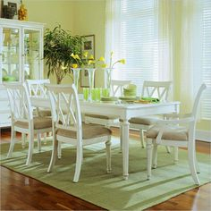 Have to have it. American Drew Camden White 7 pc. Dining Table Set - $2285 @hayneedle.com