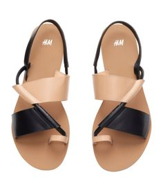 Check this out! Sandals in imitation leather with rubber soles. - Visit hm.com to see more.