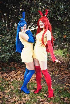 My #cosplays of #Plusle & #Minun from #Pokemon [ #Gijinka ] :)