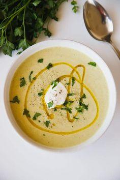 Zucchini Soup Recipe - creamy, low carb, low calorie soup.
